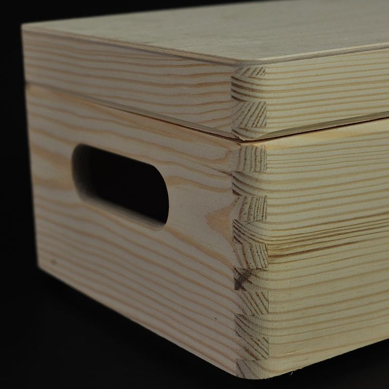 Plain Wooden Storage Box 30 X 20 X 14 Cm